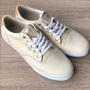 Gold Fabric Vans Sneakers - Size 9.5 - NEW